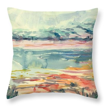 Mormon Lake Throw Pillow by Marilyn Miller
