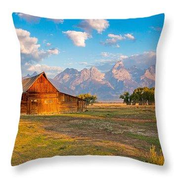 Mormon Row And The Grand Teton Throw Pillow
