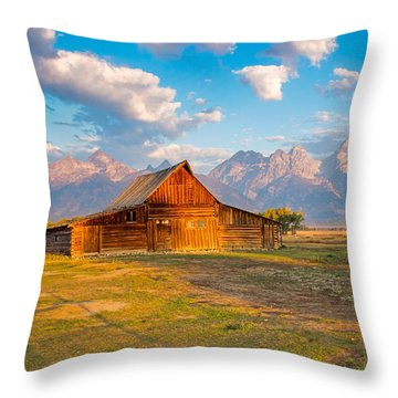 Mormon Row And The Grand Teton Throw Pillow