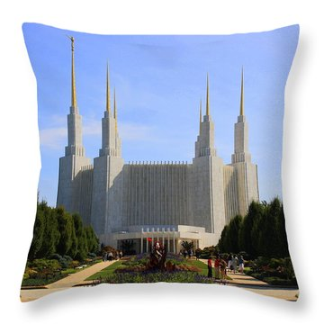 Mormon Temple Dc Throw Pillow