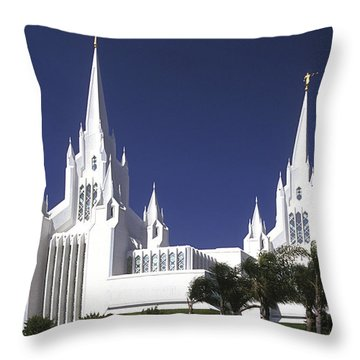 Mormon Temple Throw Pillow by Paul W Faust -  Impressions of Light