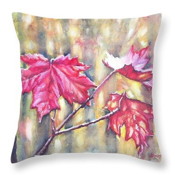 Morning After Autumn Rain Throw Pillow by Shana Rowe Jackson