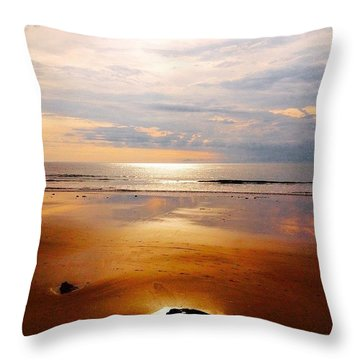 Lone Rock Throw Pillow