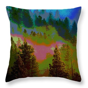 Throw Pillow featuring the photograph Morning Arrives In The Pacific Northwest by Ben Upham III