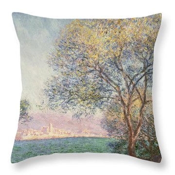 Morning At Antibes Throw Pillow by Claude Monet