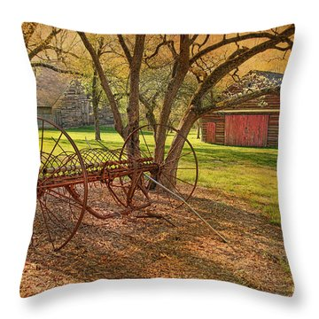 Morning At Bouman Stickney Farm Throw Pillow