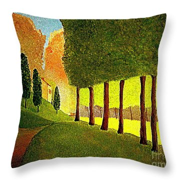 Chambord Morning By Bill O'connor Throw Pillow