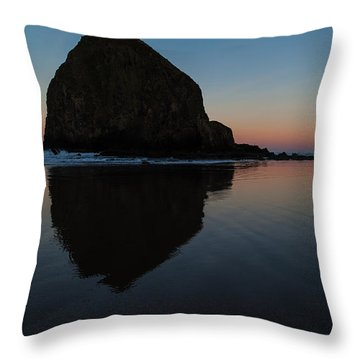 Morning At Haystack Throw Pillow by Mike Reid