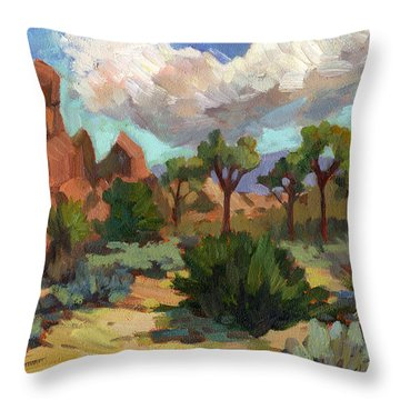 Morning At Joshua Throw Pillow