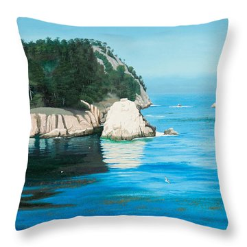 Morning At Point Lobos #2 Throw Pillow