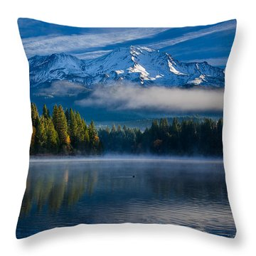 Morning At Siskiyou Lake Throw Pillow