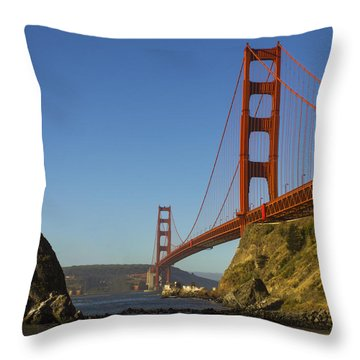 Morning At The Golden Gate Throw Pillow