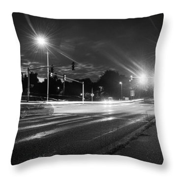 Morning At The Intersection Throw Pillow