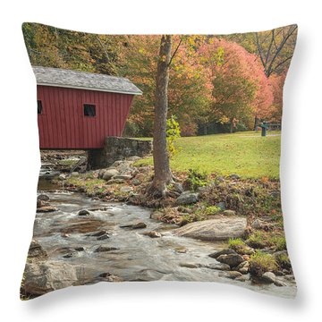 Morning At The Park Throw Pillow by Bill Wakeley