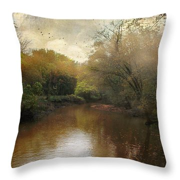 Throw Pillow featuring the photograph Morning At The River by John Rivera
