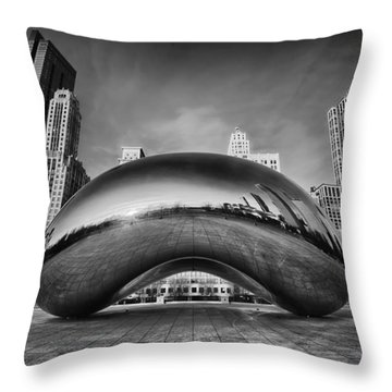 Morning Bean In Black And White Throw Pillow