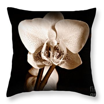 Morning Beauty Sepia Throw Pillow
