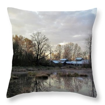 Morning Breaking Throw Pillow