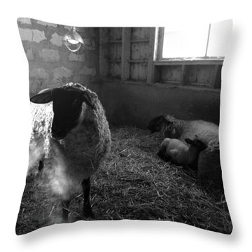 Morning Breath 1 Throw Pillow