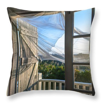 Morning Breeze At The Beach House Throw Pillow