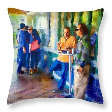 Morning Cafe Con Leche Break Throw Pillow by Ted Azriel