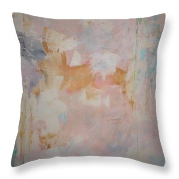 Throw Pillow featuring the painting Morning Calm  C2010 by Paul Ashby