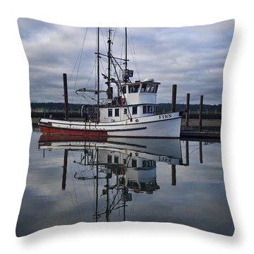 Morning Calm Newport Oregon Throw Pillow