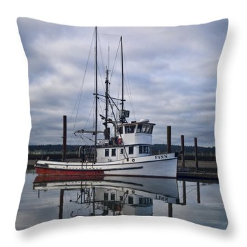 Morning Calm Newport Oregon Square Version Throw Pillow