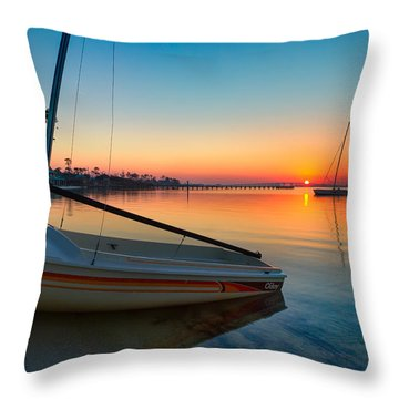 Morning Calm Throw Pillow by Tim Stanley