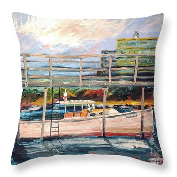 Morning Cape Porpoise Throw Pillow