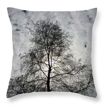 Morning Clouds Throw Pillow