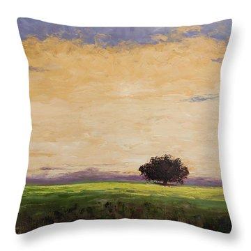 Morning Clouds Throw Pillow