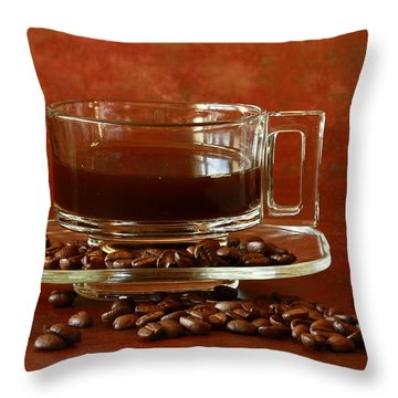 Morning Coffee Throw Pillow by Inspired Nature Photography Fine Art Photography