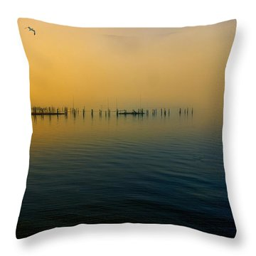 Morning Comes On The Bay Throw Pillow