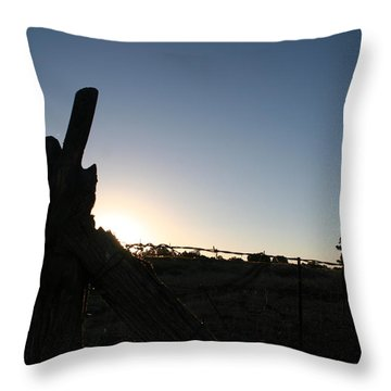 Throw Pillow featuring the pyrography Morning by David S Reynolds