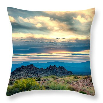 Morning Desert Glow Throw Pillow