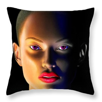 Throw Pillow featuring the digital art Morning Dew by Anthony Mwangi