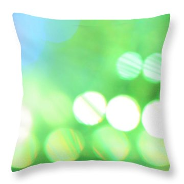 Throw Pillow featuring the photograph Morning Dew by Dazzle Zazz