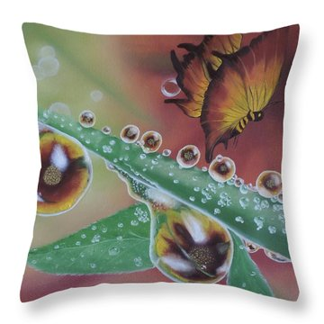 Morning Dew Throw Pillow
