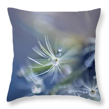 Throw Pillow featuring the photograph Morning Dew by John Rivera