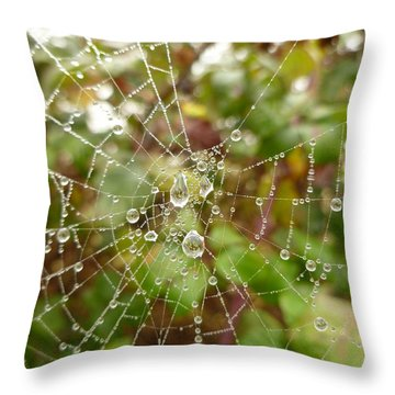 Throw Pillow featuring the photograph Morning Dew by Vicki Spindler
