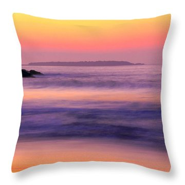 Morning Dream Singing Beach Throw Pillow by Michael Hubley