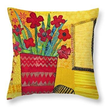 Morning Dreams Throw Pillow by Susan Rienzo