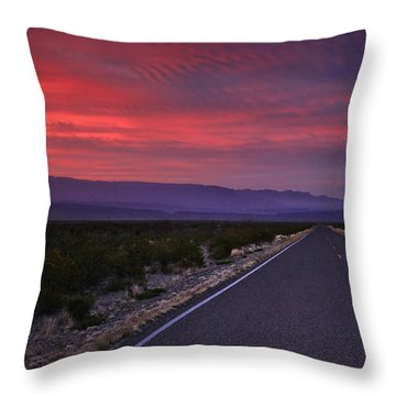 Morning Drive Throw Pillow