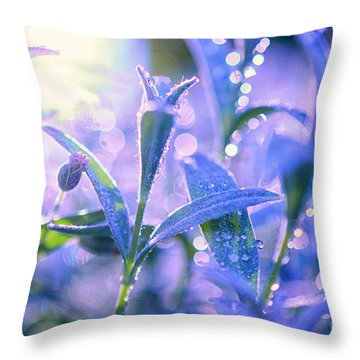 Morning Field Throw Pillow by Sabine Jacobs