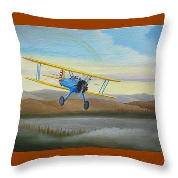 Morning Flight Throw Pillow