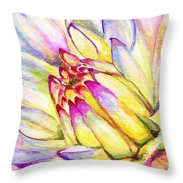 Morning Flower Throw Pillow