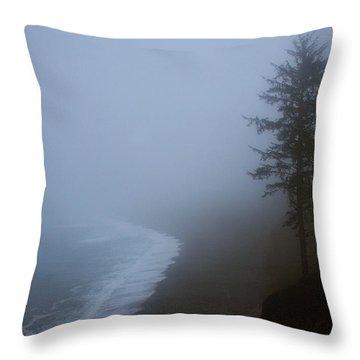 Morning Fog At Agate Beach Throw Pillow by Robert Woodward