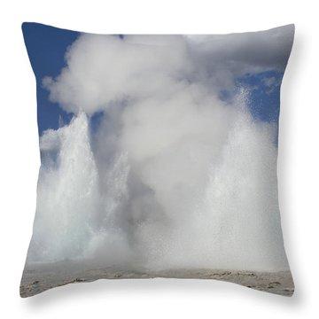 Morning-fountain Dual Eruption Throw Pillow
