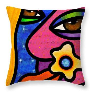 Morning Gloria Throw Pillow
